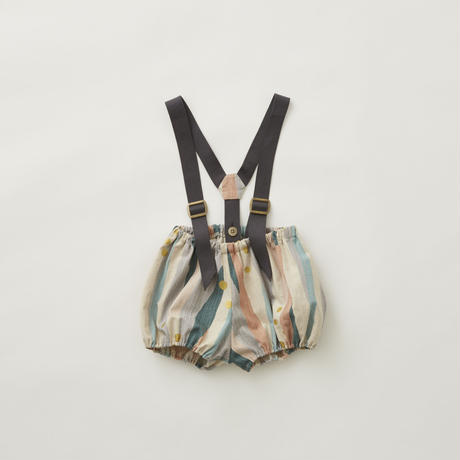 Crambon stripe suspenders bloomers