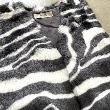 Zebra Fur vest