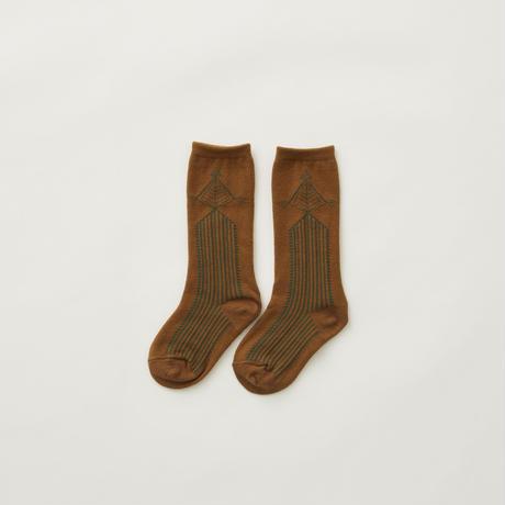 Abies high socks camel