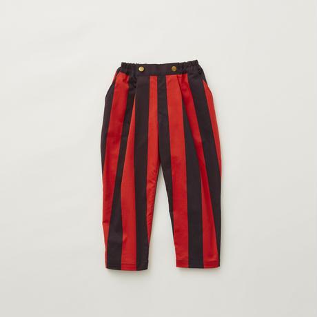 Wide stripe tuck pants