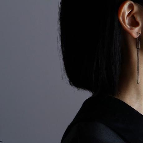 Rectangle earring, b27-60 / BK