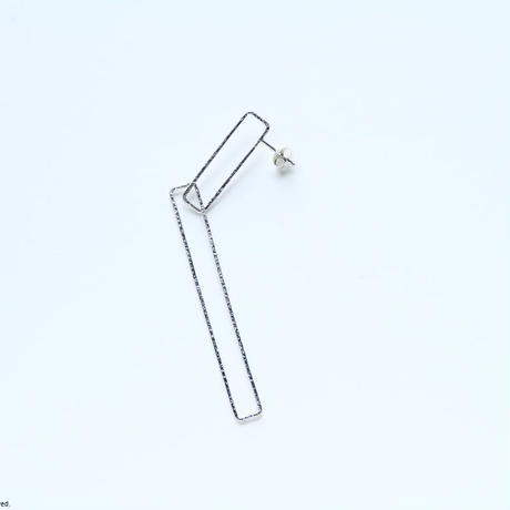 Rectangle earring, b27-60 / SV