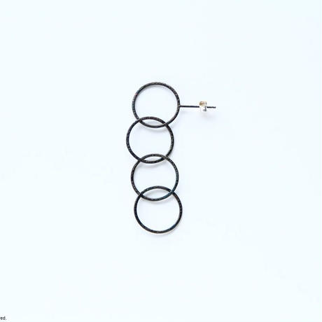 Ring earring, b4 / BK