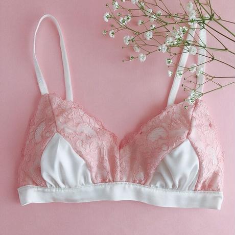 Pink petals Triangle soft bra