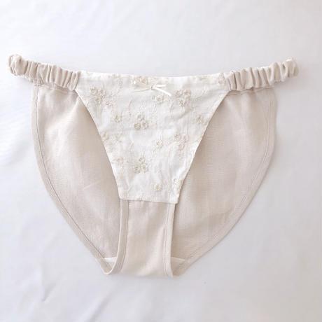 Linen×organic cotton panty