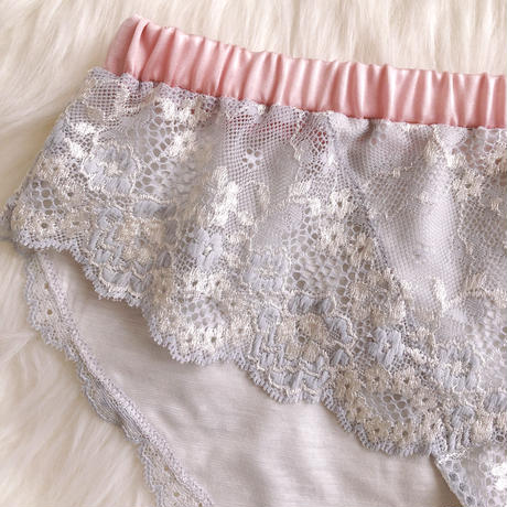 Ephemeral hip hanger shorts