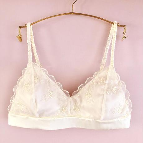 Light yellow silk cotton bra