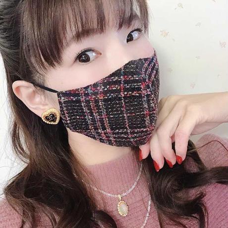 Black tweed mask
