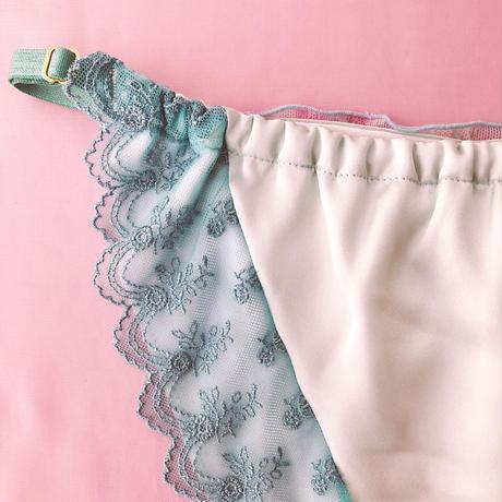 Flower chiffon panty mintgreen