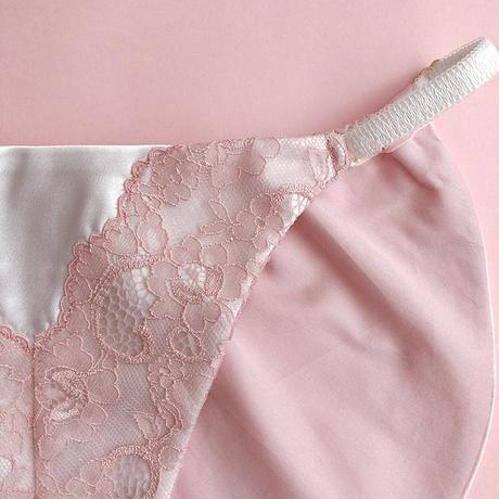 Pink petals high leg panty