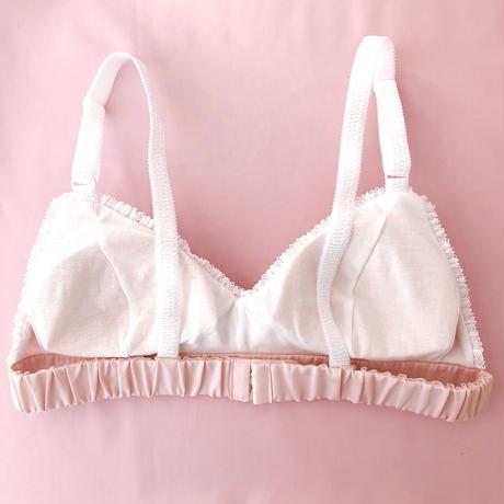 Heart chiffon bra