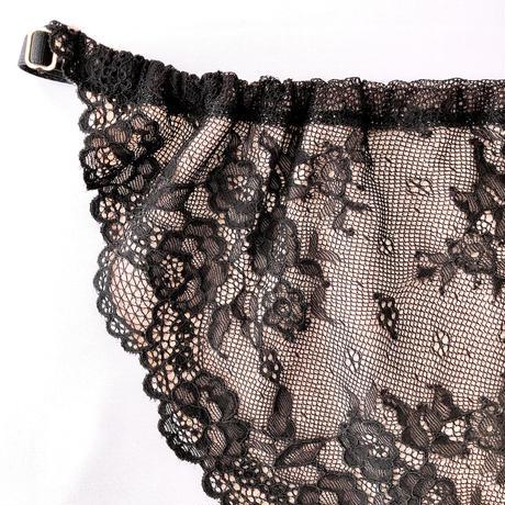 Nudie lace panty black
