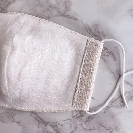 White×silver tweed mask