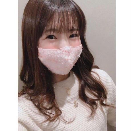 Orange×Pink tweed mask