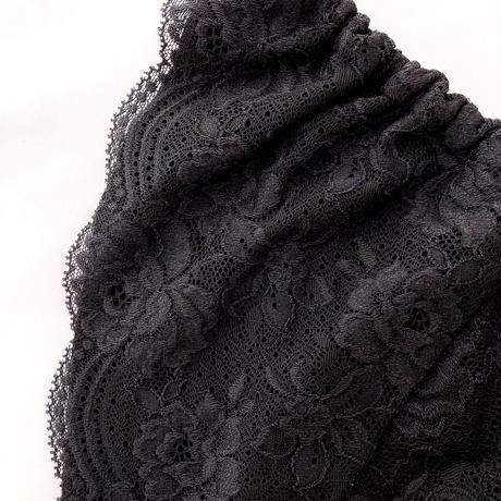 Black flowers panty
