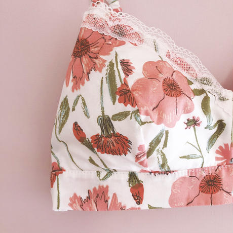 Perennial renewal pink cotton bra
