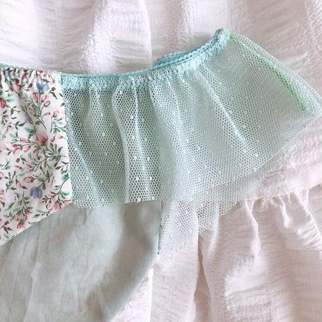 Green apple flare Shorts
