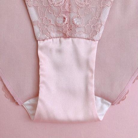 Pink petals back lace panty