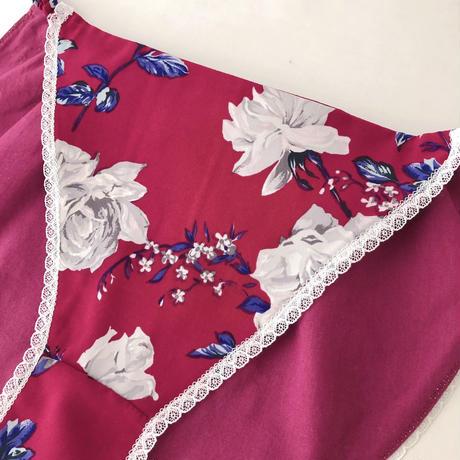 Purple×roses panty