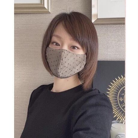 Dots tulle mask black(ドットチュールマスク ブラック)