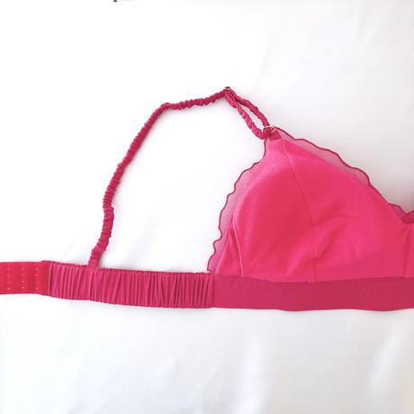 Hot pink chiffon bra