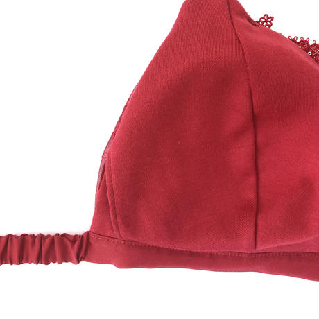 Geranium red silk bra