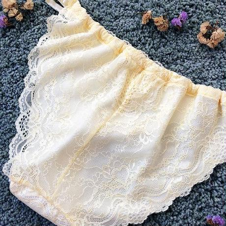 Light yellow silk cotton panty