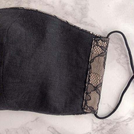 Lace mask black