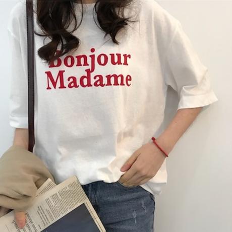 (8月中旬発送)Bonjour Madame Tシャツ