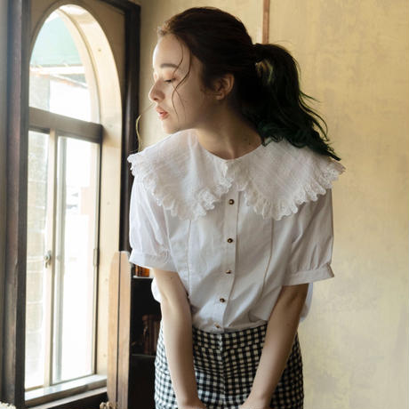 frill lace blouse