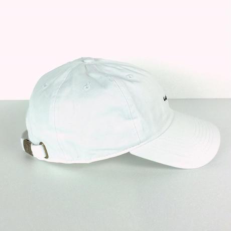 KAKI P Curve Cap WHITE/BLACK