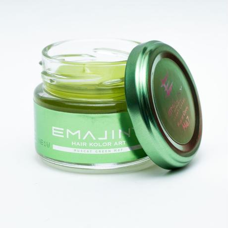 EMAJINY Muscat Green M47(マスカットグリーンヘアカラーワックス)薄緑36g【日本製】【無香料】