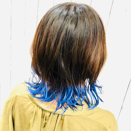 EMAJINY Mysterious Blue M25(ミステリアスブルーヘアカラーワックス)青36g【日本製】【無香料】