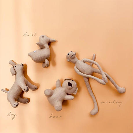handmade linen stuffed animals