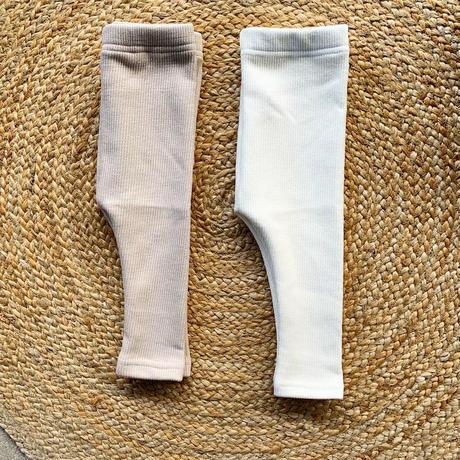 rib leggings  -fleece fabric-
