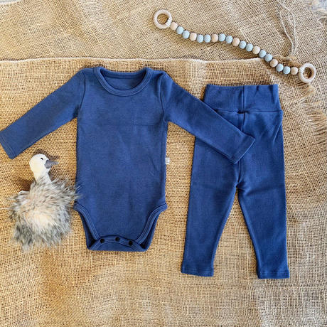 smoky blue  -standard - rompers&leggings set-