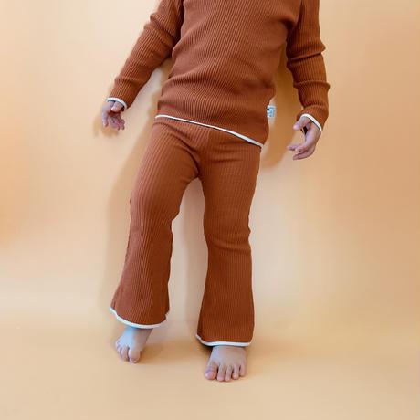 【retro rib】kids  bell bottom  pants