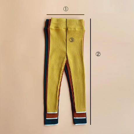 【retro rib】kids  straight  pants