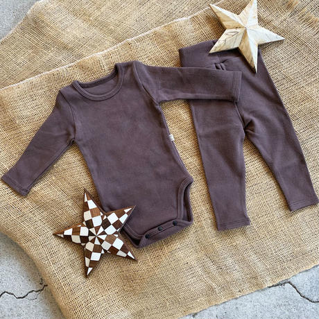 dark brown -standard - rompers&leggings set-