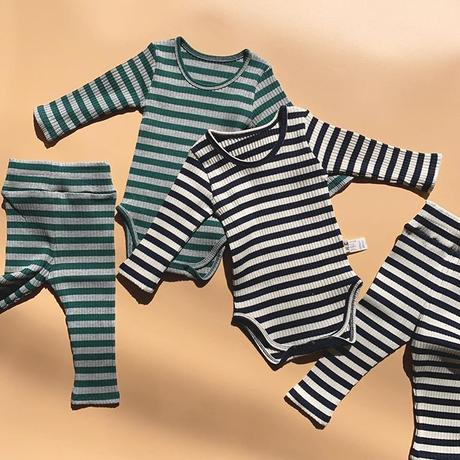 basic rib border rompers set up