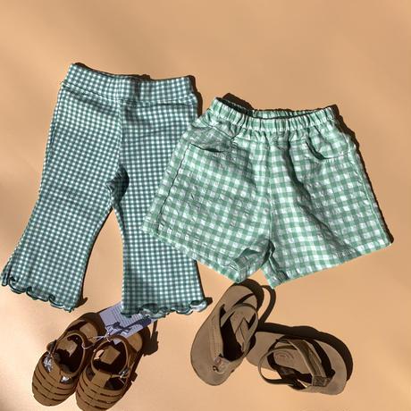 emas select // gingham check half pants//再入荷