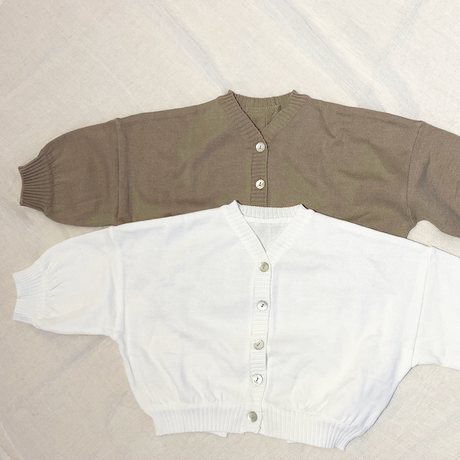 big silhouette cardigan/beigeのみ (white完売)