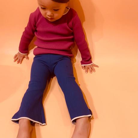 【retro rib】kids  bell bottom  pants  ⅱ