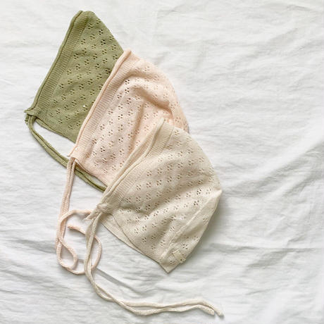 bebe lace bonnet/pinkのみ