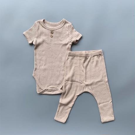 baby lace rib button rompers &  pants