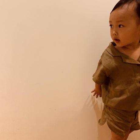 【quality time】linen shirt kids setup