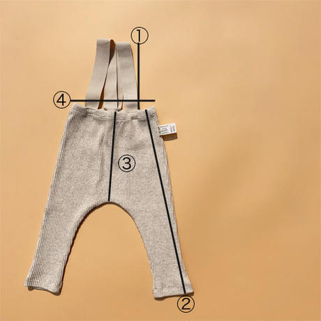 strap rib leggings