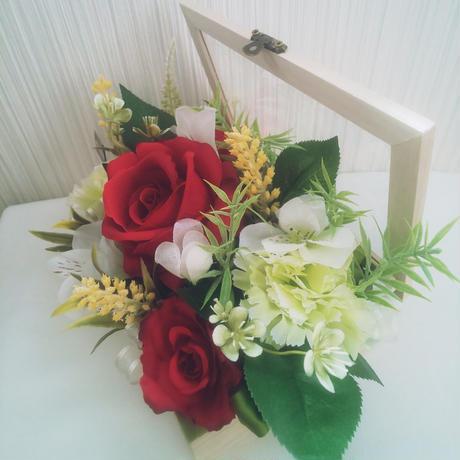 〖ラジカルフラワー〗赤バラのフラワーボックス