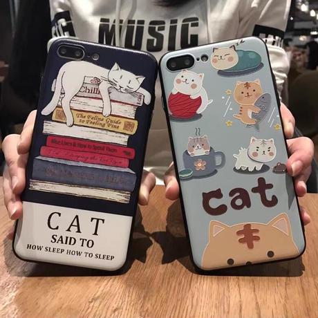 眠り猫/仔猫 スマホケース  i Phone 5/SE/6/6s/7/8/6+/6s+/7+/8+/X/XS