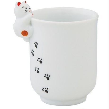 よじのぼり猫 湯呑  陶器